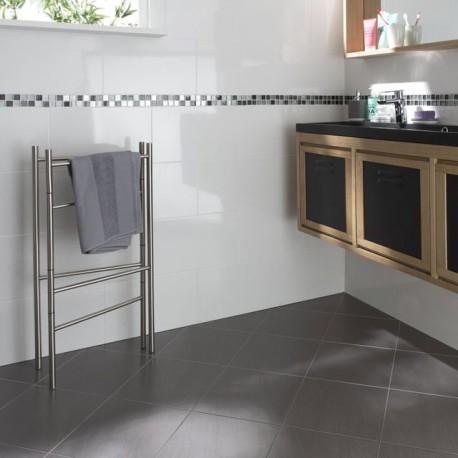 fa ence blanc brillant lisse 25x40 progibat. Black Bedroom Furniture Sets. Home Design Ideas